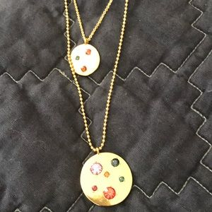 NWOT J Crew Factory necklace with jeweled orbs